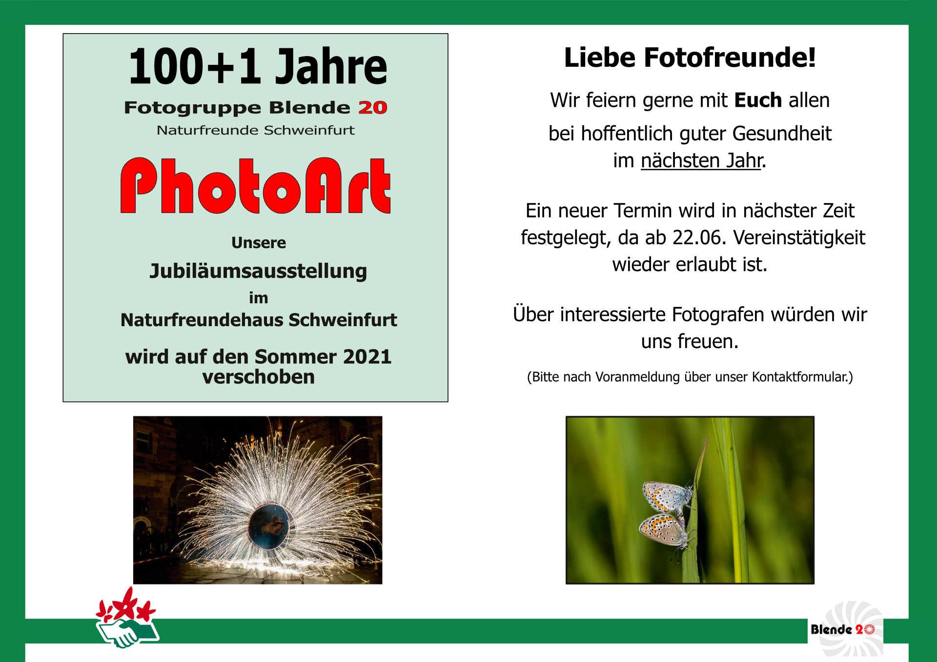 Ausstellung 100+1 Jahre Fotogruppe der Naturfreunde Schweinfurt