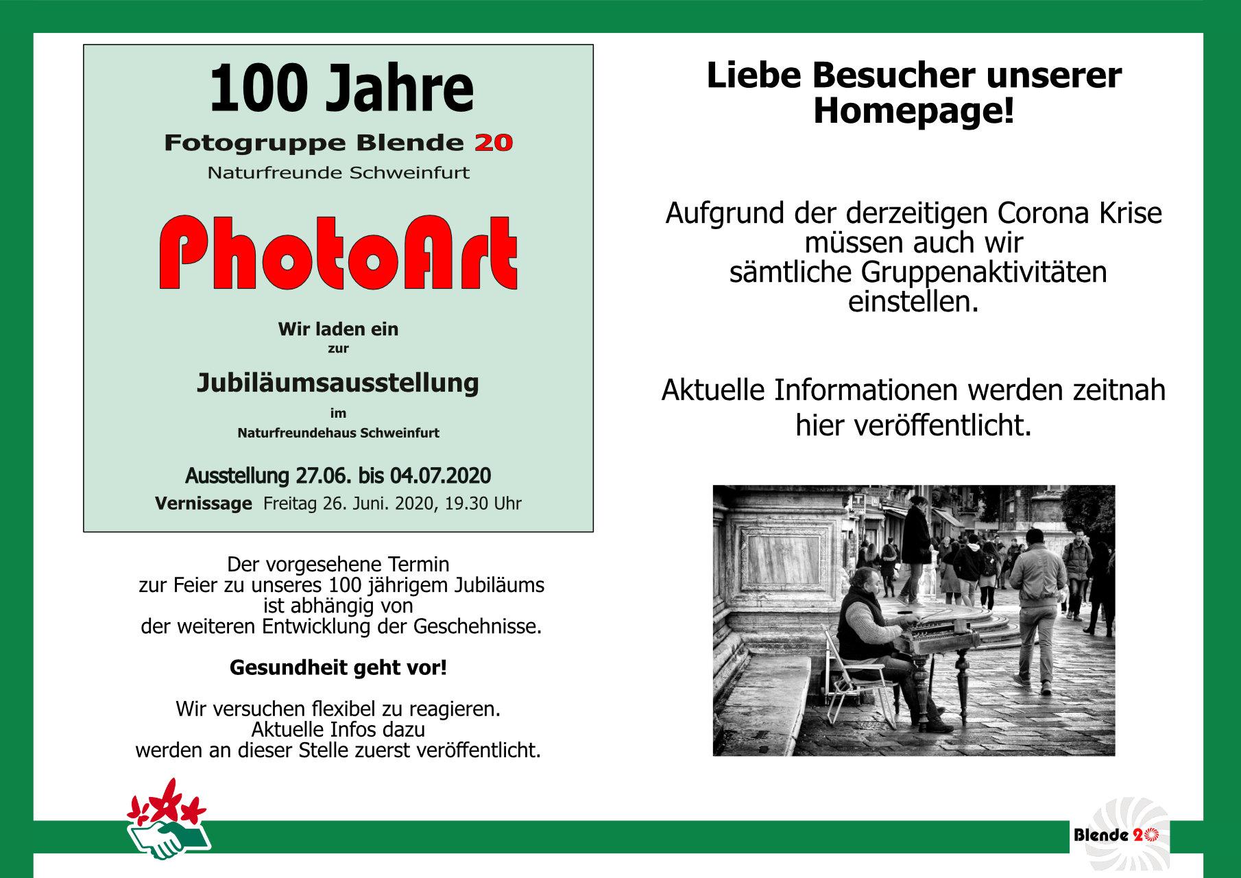 Ausstellung 100 Jahre Fotogruppe der Naturfreunde Schweinfurt